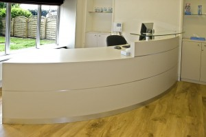 Radius Reception Counter