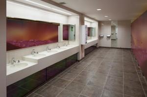 Toilet Cubicle doors with Ployrey Digital Signature Laminate