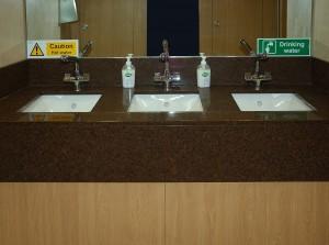Vatity Top in Executive Toilets